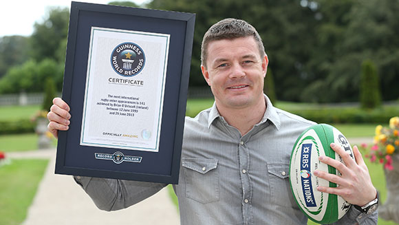 Most international appearances in Rugby Union - Brian O'Driscoll