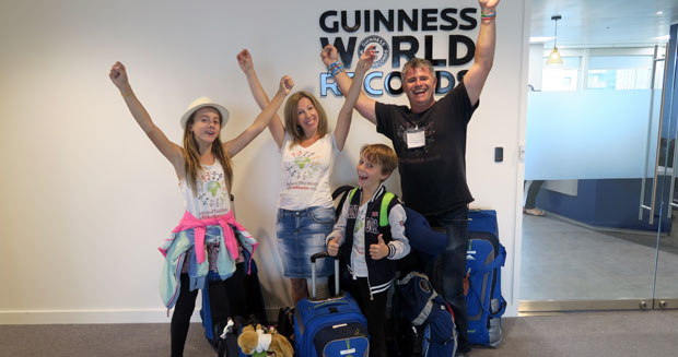 Capri and the Everitt family at the GWR London HQ