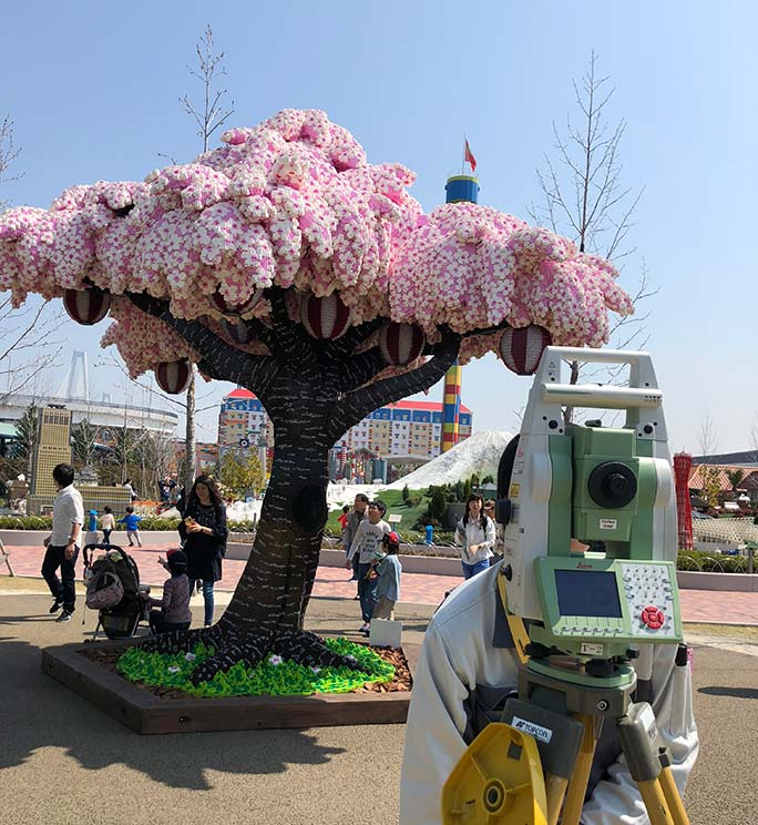 Largest LEGO brick cherry blossom tree completed