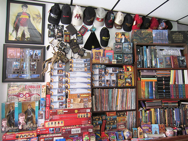 Largest collection of harry potter memorabilia