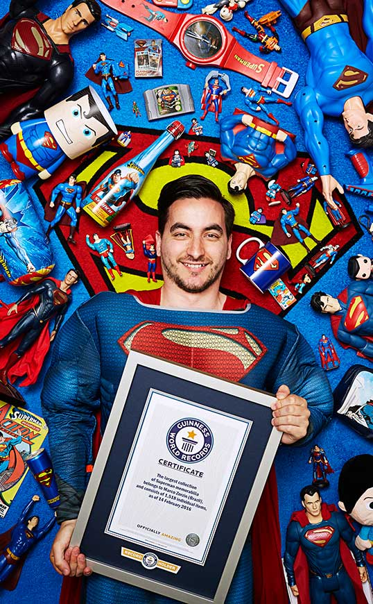 Largest collection of superman related memorabilia portrait