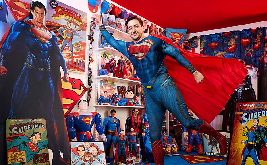 Largest collection of superman related memorabilia
