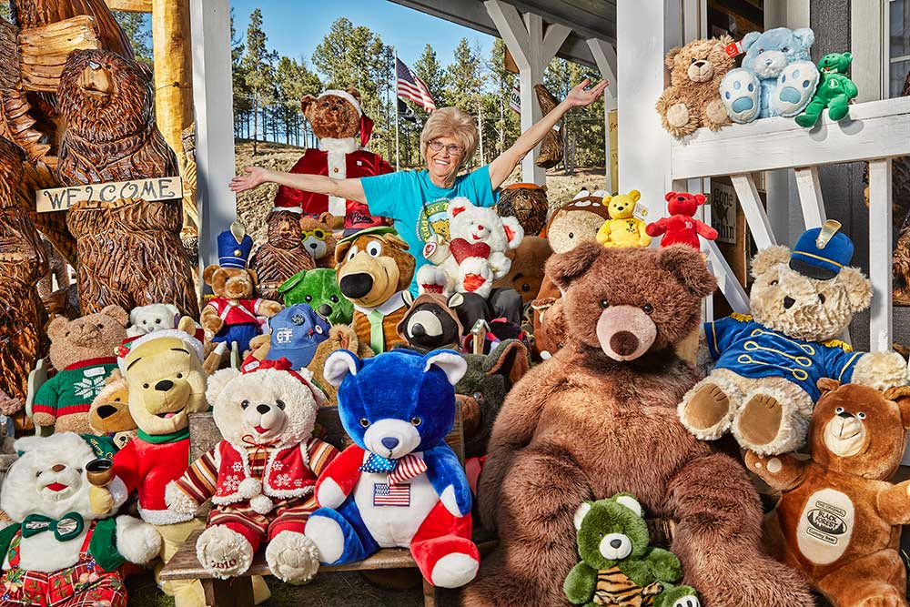 Largest collection of teddy bears Jackie