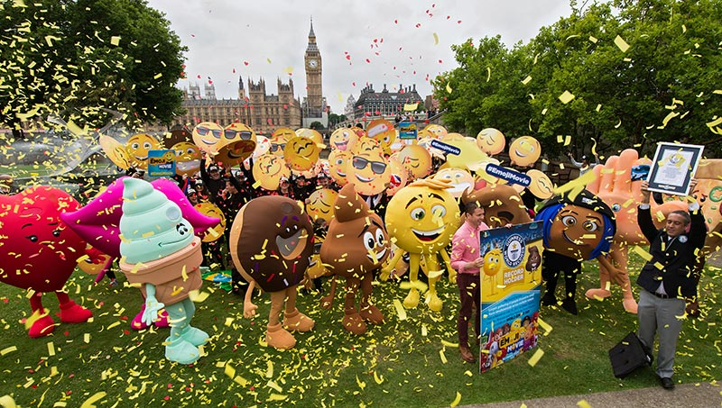 Largest gathering of people dressed as emoji faces