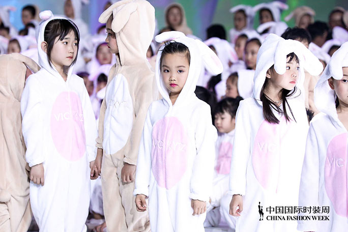 Largest gathering of people dressed as rabbits China Fashion Week