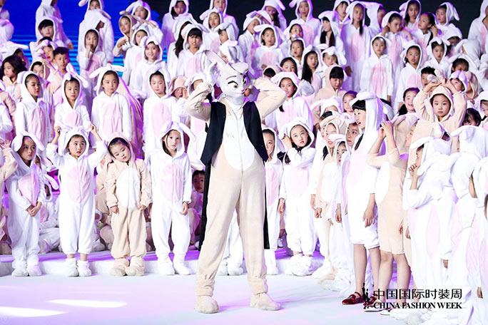 Largest gathering of people dressed as rabbits China Fashion Week 2