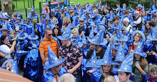 Largest gathering of people dressed as wizards