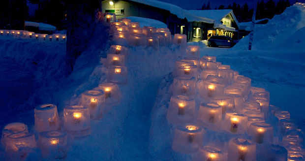 Largest ice lantern display