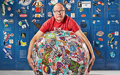 Largest sticker ball