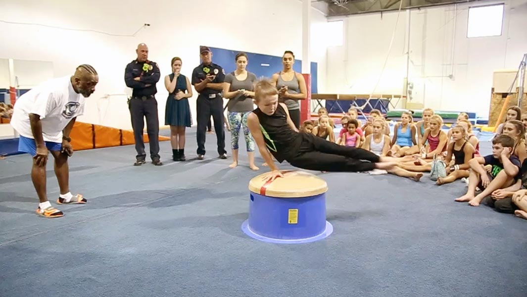 10-year-old gymnast breaks record and his friends don't believe him!