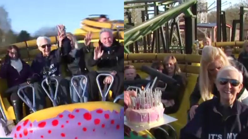 Oldest person to ride a non-inversion roller coaster
