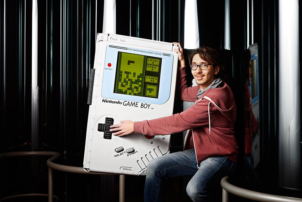 Playing the largest Game Boy