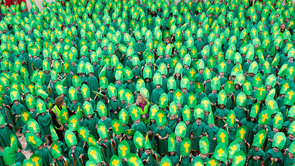Largest gathering of people dressed as St Patrick main