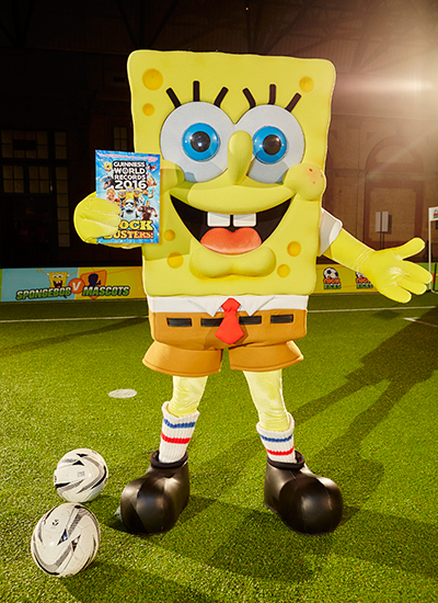 SpongeBob holding copy of Blockbusters