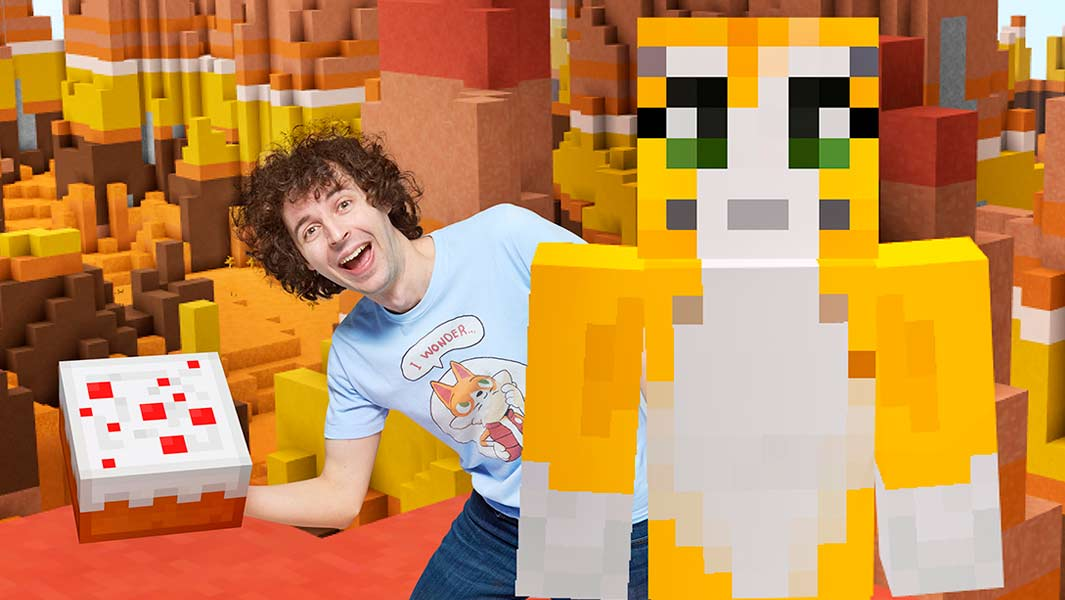 Watch Youtuber Stampy Cat set a Minecraft cake record