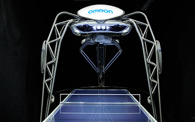 Table tennis playing robot