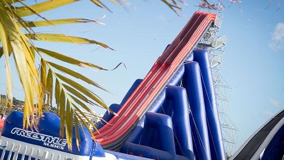 Tallest inflatable slide header