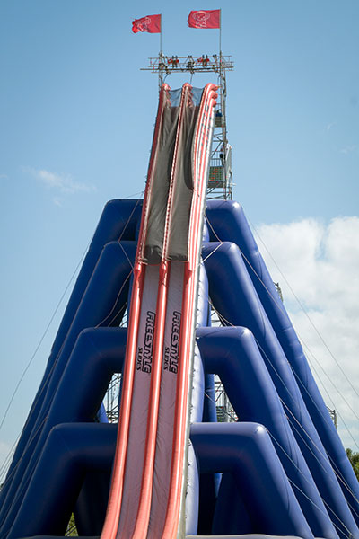 Tallest inflatable slide portrait