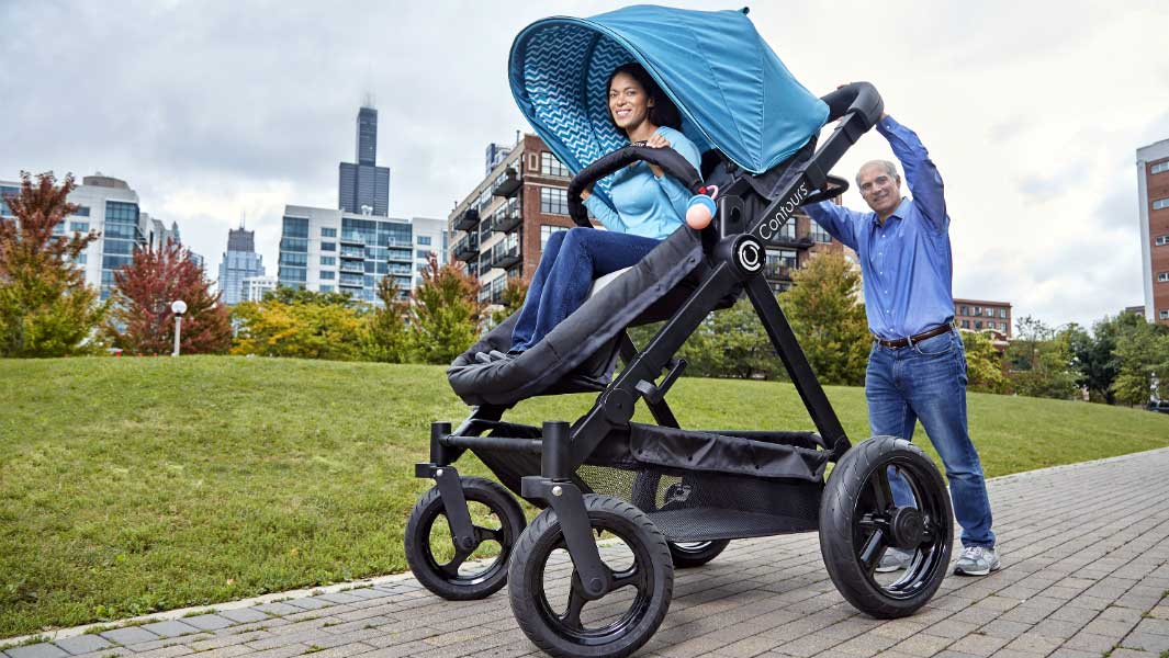 Video: Adults test out the world's largest pram/stroller