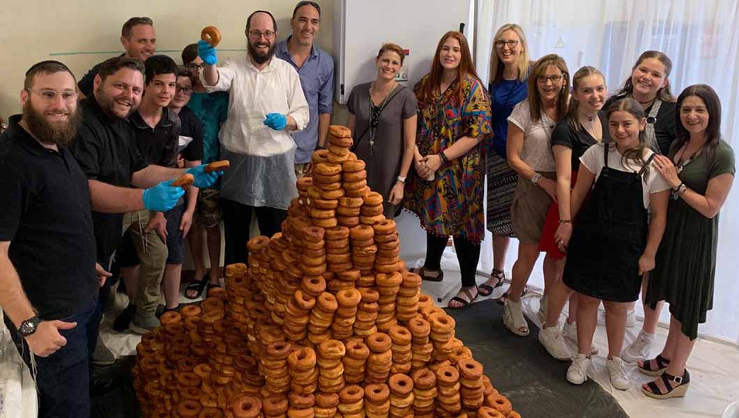 This tower is made from 3,100 doughnuts