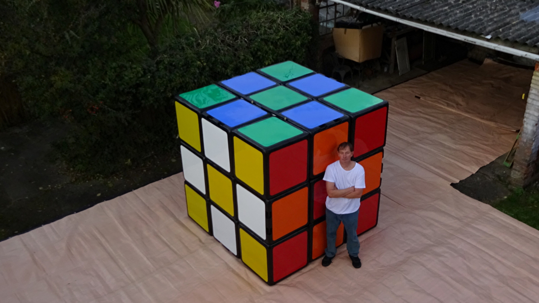 The world's largest Rubik's Cube