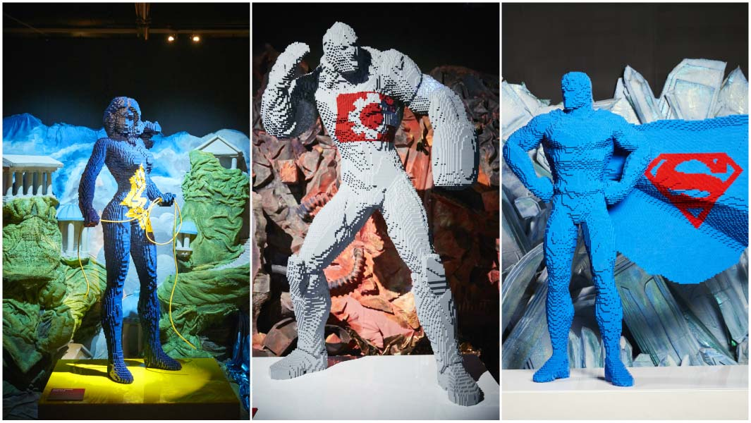 LEGO artist creates 11 DC comics characters out of plastic bricks