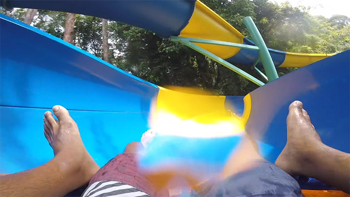 Longest inner tube mat water slide