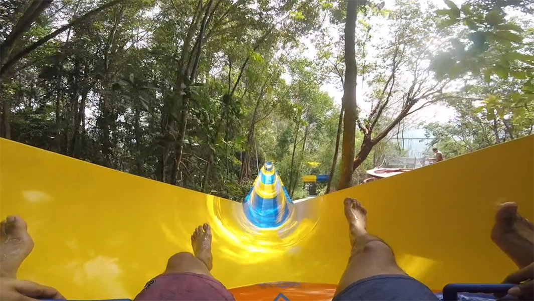 Longest mat water slide is 1,111 metres in Malaysia