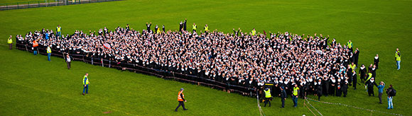 Largest gathering of people dressed as nuns landscape image