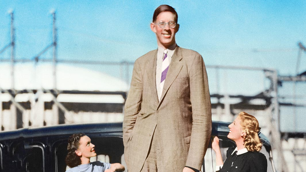 Robert Wadlow Image Getty Colourised by PMH
