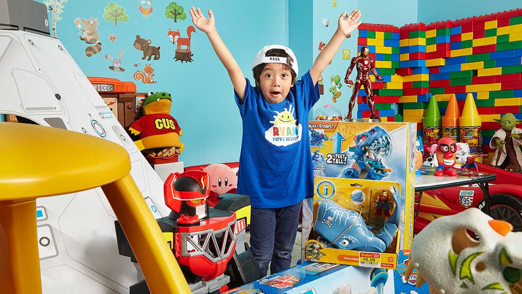 The six-year-old star of Ryan ToysReview has set a YouTube world record
