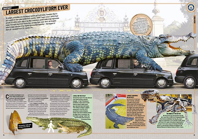 The 'snapshot' about the largest crocodyliform ever is one of eight such features that appear in the new GWR 2020 book