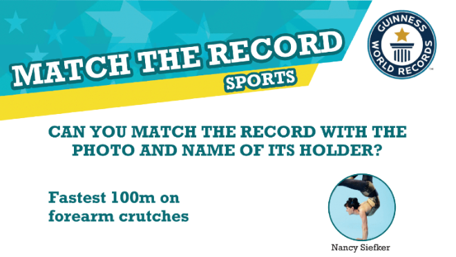 Match the records activity sheet