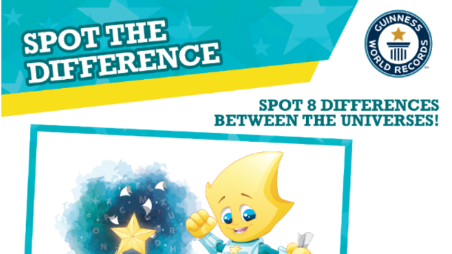 Spot the difference activity sheet
